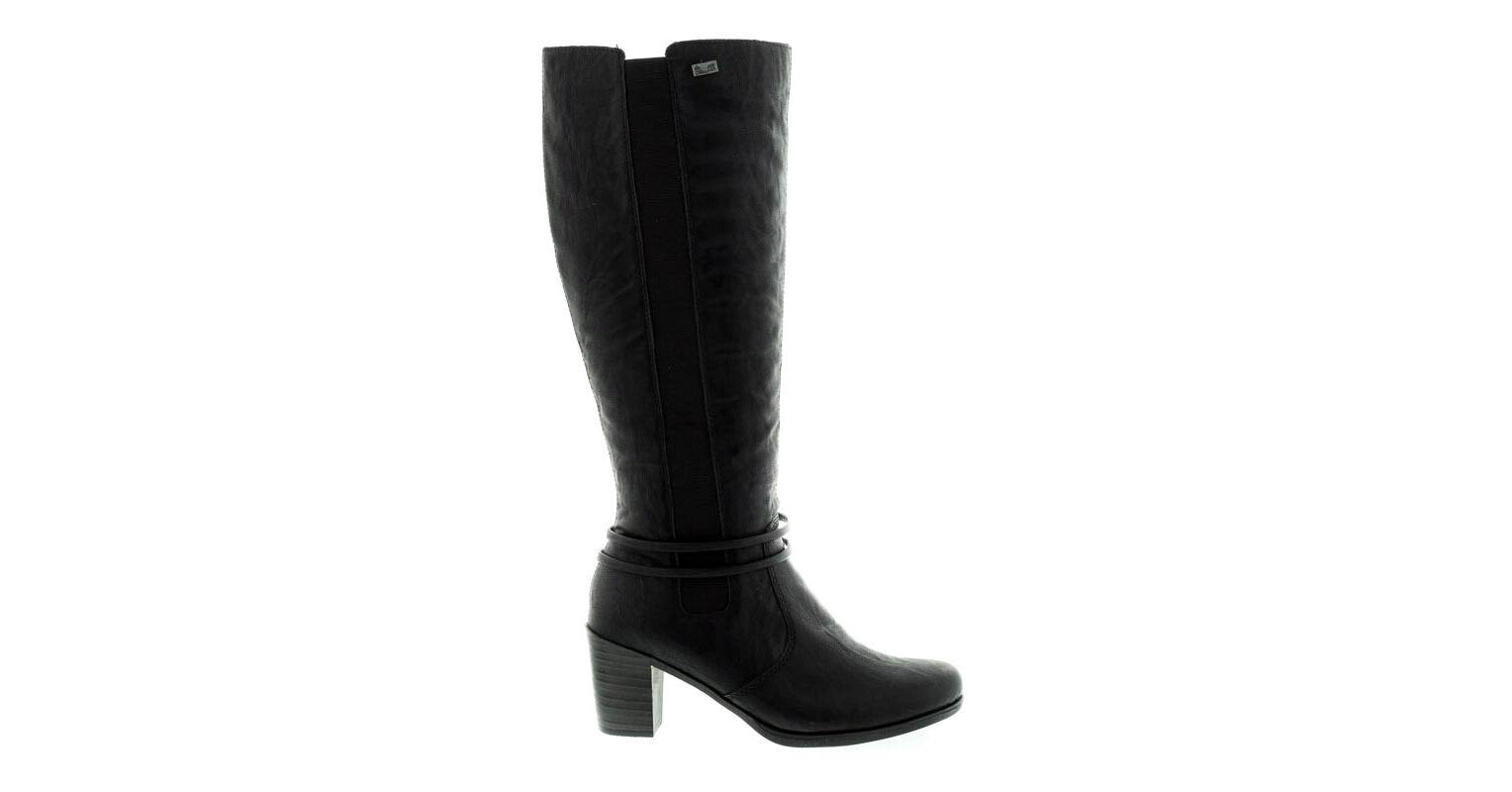 Rieker női csizma schwarz00 fekete