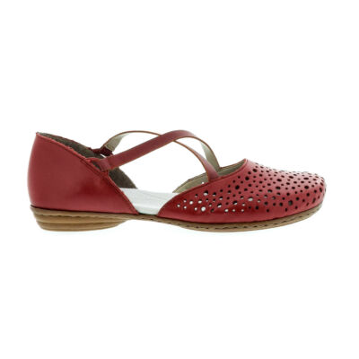 Rieker női nyitott félcipő/rosso 36-41 piros  177791_A