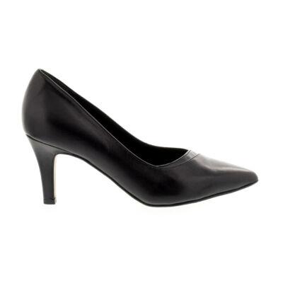 Tamaris pumps black leather003 fekete  177925_A