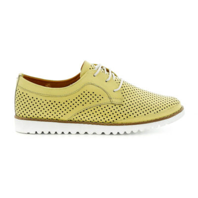 La Pinta bőr fűzős félcipő 36 yellow