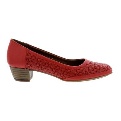 Mago női bőr pumps red piros  179843_A