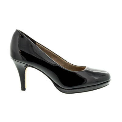 Tamaris pumps black pat971 fekete  181036_A