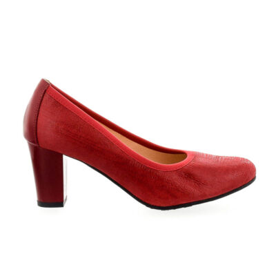 Bioeco bőr pumps 1233+0433 piros piros  182352_A