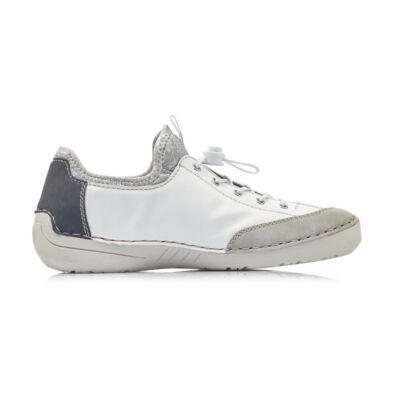 Rieker női félcipő cement-weiss