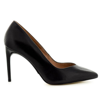 Tamaris pumps black lea003  fekete  183645_A
