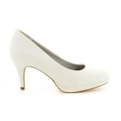 Tamaris pumps white matt140 fehér  183648_A