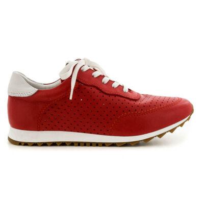 Tamaris félcipő red-white637 piros  183692_A