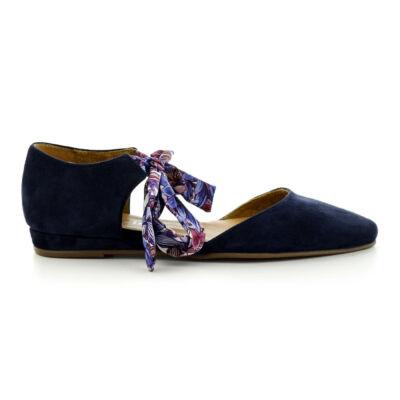 Tamaris kérges navy-flower859 kék  183771_A