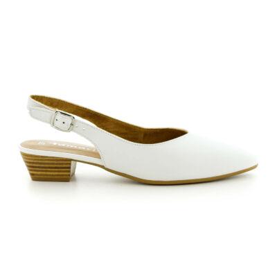 Tamaris sling white leather117 fehér  184006_A