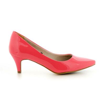 Tamaris pumps coral patent682 rózsaszín  184044_A
