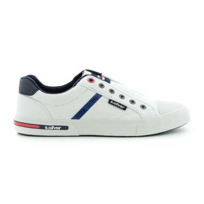 S.Oliver férfi sportcipő white100 fehér  184347_A