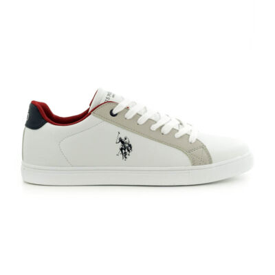 U.S.Polo fűzős sneaker  white