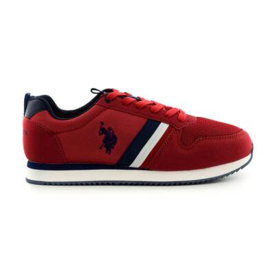 U.S.Polo fűzős sneaker red  piros  185180_A
