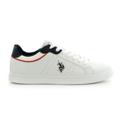 U.S.Polo fűzős sneaker white-d.blue fehér  185181_A