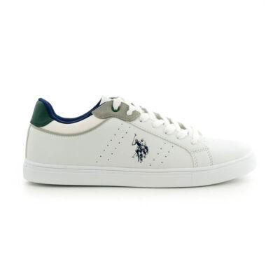 U.S.Polo fűzős sneaker white-green