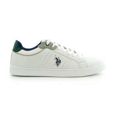 U.S.Polo fűzős sneaker white-green fehér  185183_A