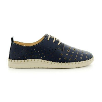Mago bőr félcipő  navy kék  185393_A