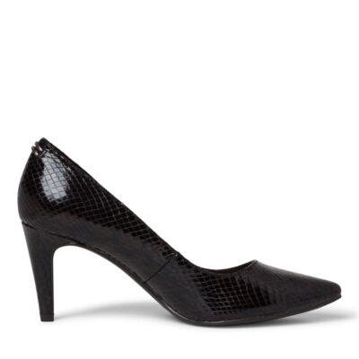 Tamaris pumps/black snake073 fekete  186157_A