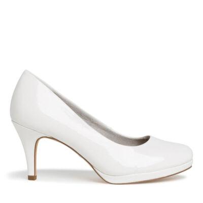 Tamaris pumps/white patent123 fehér  186165_A