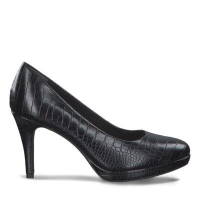 Tamaris pumps/black croco028 fekete  186177_A