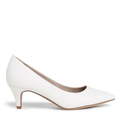 Tamaris pumps/white matt137 fehér  186179_A