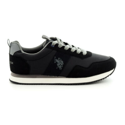 U.S.Polo sportcipő/ black grey fekete  187205_A