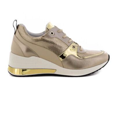 Lux sneaker/ KOL T-04 bézs-arany beige  188352_A