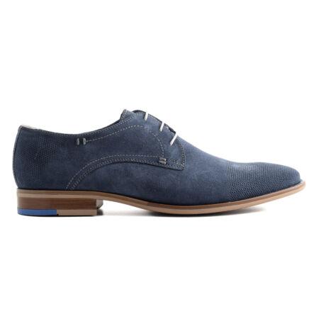 Simonetti fűzős alkalmi velúr cipő kék  169668_A