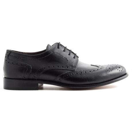 Marco Battisti bőr fűzős alkalmi cipő fekete  169694_A