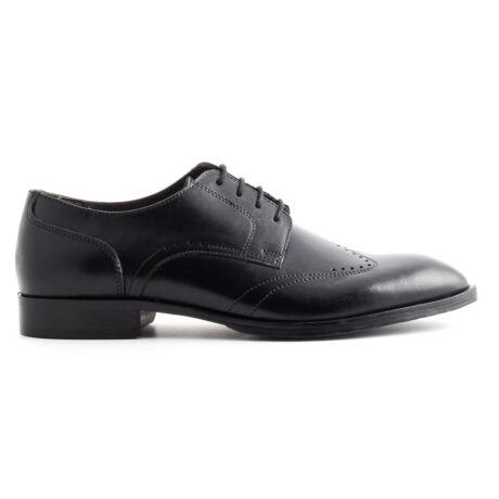 Marco Battisti bőr fűzős alkalmi cipő fekete  169699_A