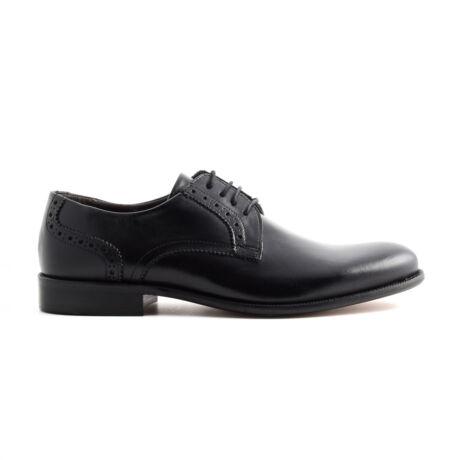 Marco Battisti bőr fűzős alkalmi cipő fekete  169700_A