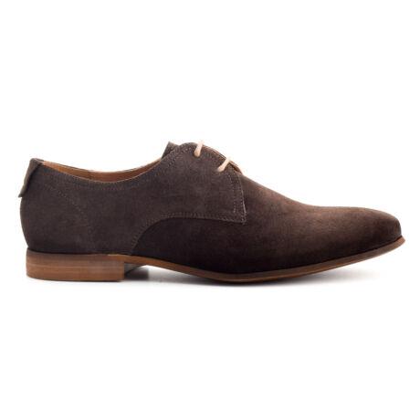 Simonetti velúr fűzős alkalmi cipő sötétbarna  169975_A