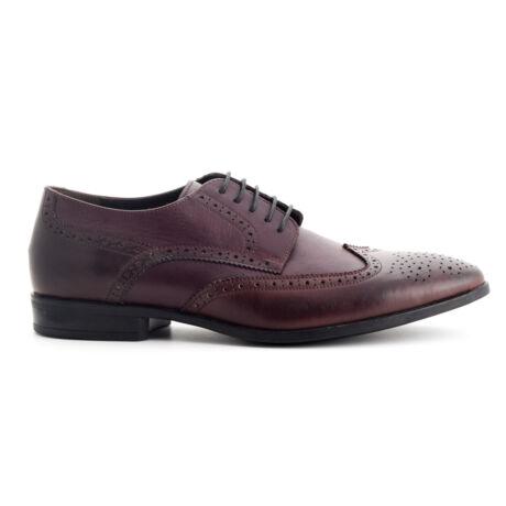 Simonetti bőr fűzős alklami férfi cipő bordó  169978_A