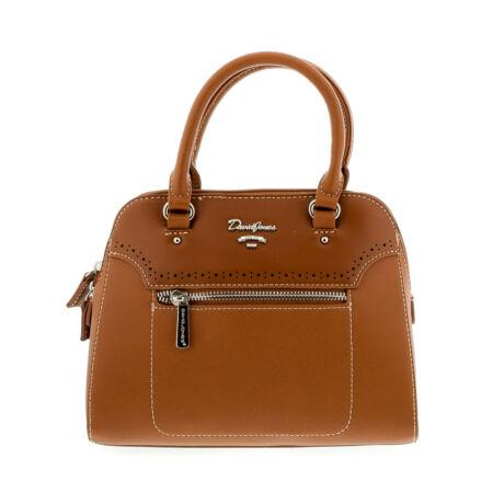 David Jones női műbőr táska cognac világosbarna  179296_A
