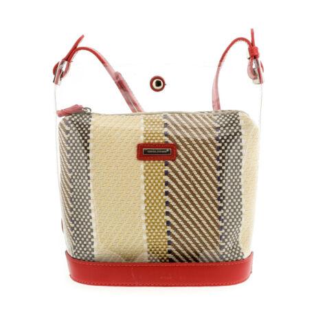 David Jones női műbőr táska red piros  179310_A