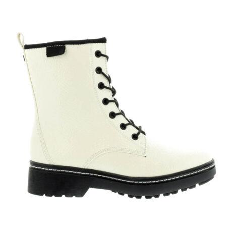 Tamaris bakancs white patent123 fehér  180672_A