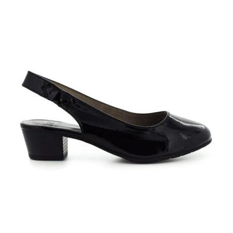 Jana sling black patent018 fekete  184210_A
