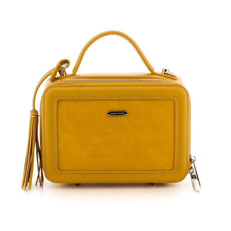 David Jones női műbőr táska yellow sárga  184776_A