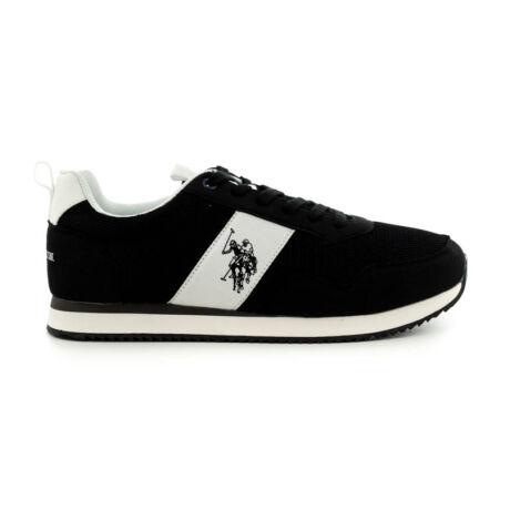 U.S.Polo fűzős sneaker black fekete  185187_A