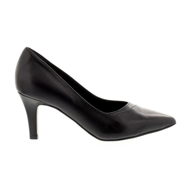 Tamaris pumps black leather003 fekete 39.0 177925_A