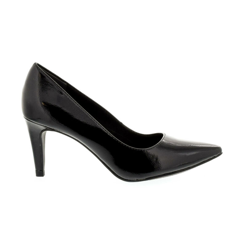 Tamaris pumps black patent 018 fekete  177929_A