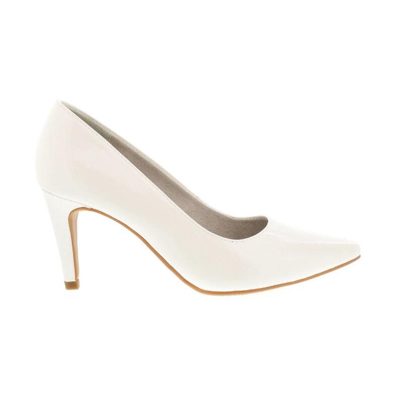 Tamaris pumps white patent123 fehér  177930_A
