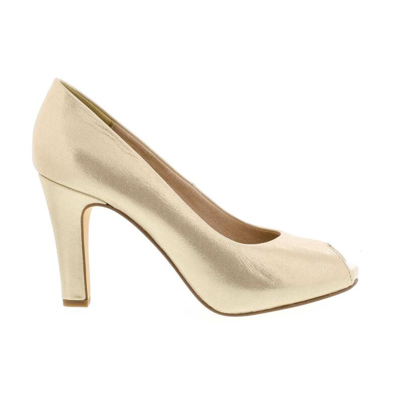 Tamaris nyitott pumps light gold9 arany  178120_A