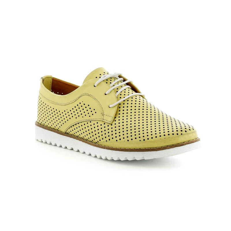 La Pinta bőr fűzős félcipő 36 yellow 179129_B.jpg
