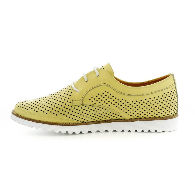 La Pinta bőr fűzős félcipő 36 yellow 179129_C.jpg