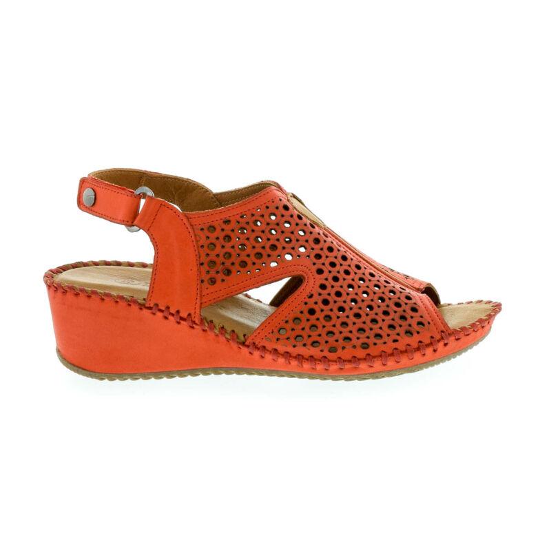 La Pinta bőr szandál 59 red leather piros  179144_A