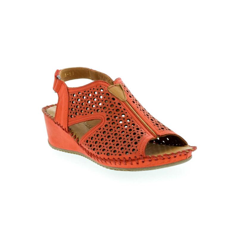 La Pinta bőr szandál 59 red leather 179144_B.jpg