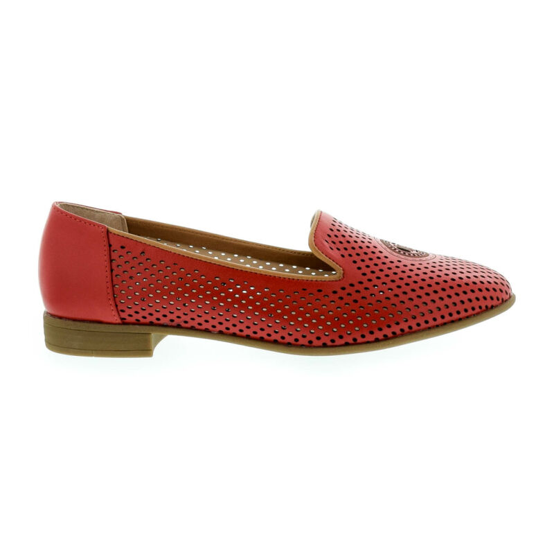La Pinta lyukacsos bőr félcipő 10 kirmi piros  179161_A