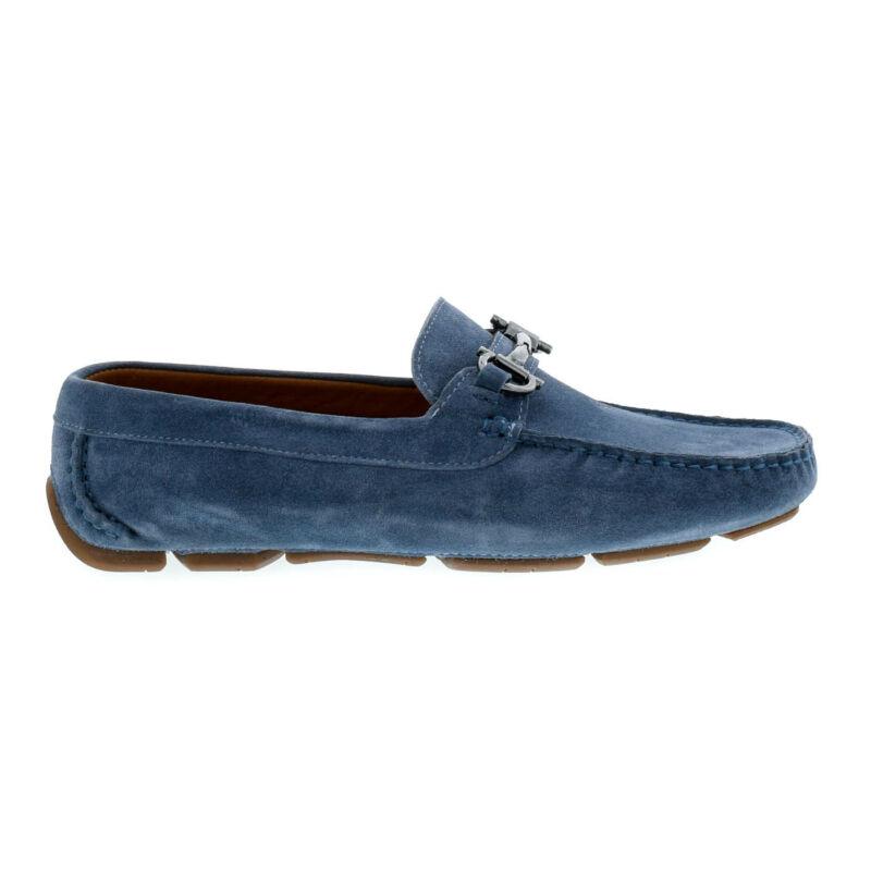 Mago férfi mokaszin jeans suede kék  179854_A