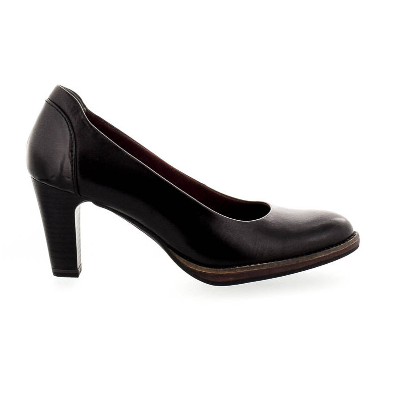 Tamaris pumps black leaather003 fekete  181018_A